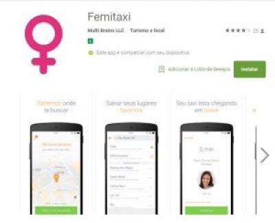App de táxi só para mulheres FemiTaxi começa operação em Belo Horizonte.