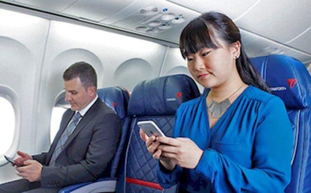 Companhia aérea oferece serviço gratuito de troca de mensagens durante o voo