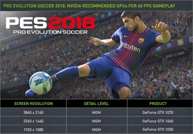 PES 2018 tem recurso exclusivo para quem usa GeForce GTX