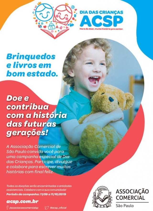 Campanha é lançada para arrecadar livros e brinquedos para crianças