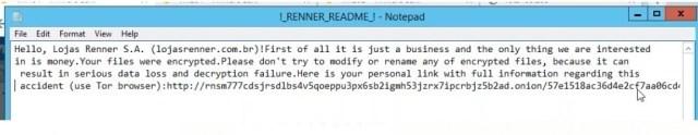 Lojas Renner estão sob suposto ataque de hackers e estão pedindo Um Bilhão