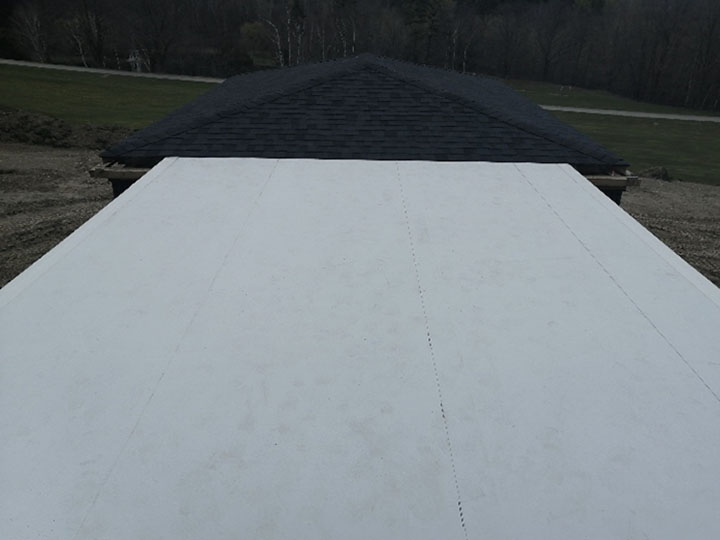 TPO Flat Roof installation - finished