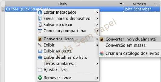 Calibre - conversão de ebooks 02