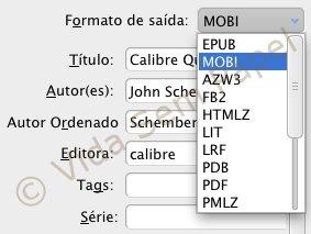 Calibre - conversão de ebooks 04