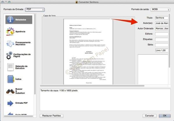 Como converter arquivos PDF no Calibre 05