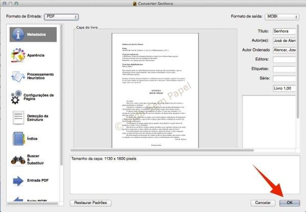 Como converter arquivos PDF no Calibre 10