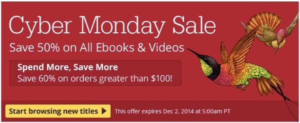 O'Reilly Cyber Monday - ebooks em promoção