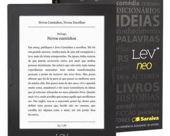 Saraiva lança Lev Neo e Lev Fit, os novos modelos do e-reader Lev