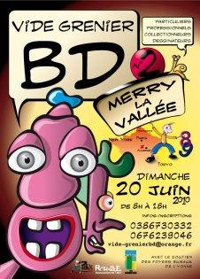 Affiche exposition Vide Grenier BD 2010 - Illustration Patrick Maniez