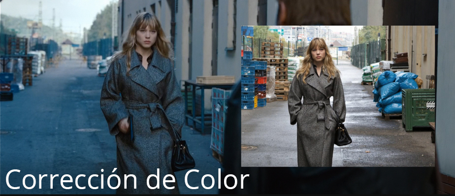 gradación y corrección de color