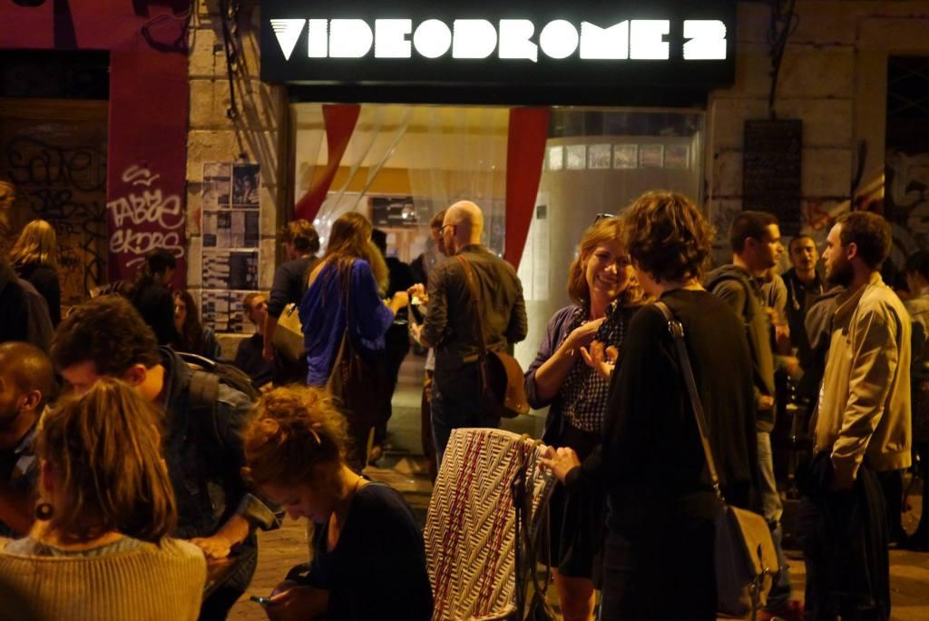 La terrasse de Videodrome 2, sur le Cours Julien à Marseille