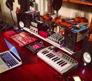 Cutman's home studio setup.