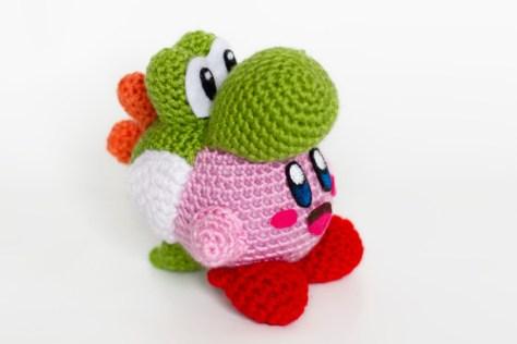 Crochet Yoshi Kirby Amigurumi Video Game Dj Chiptune And Video