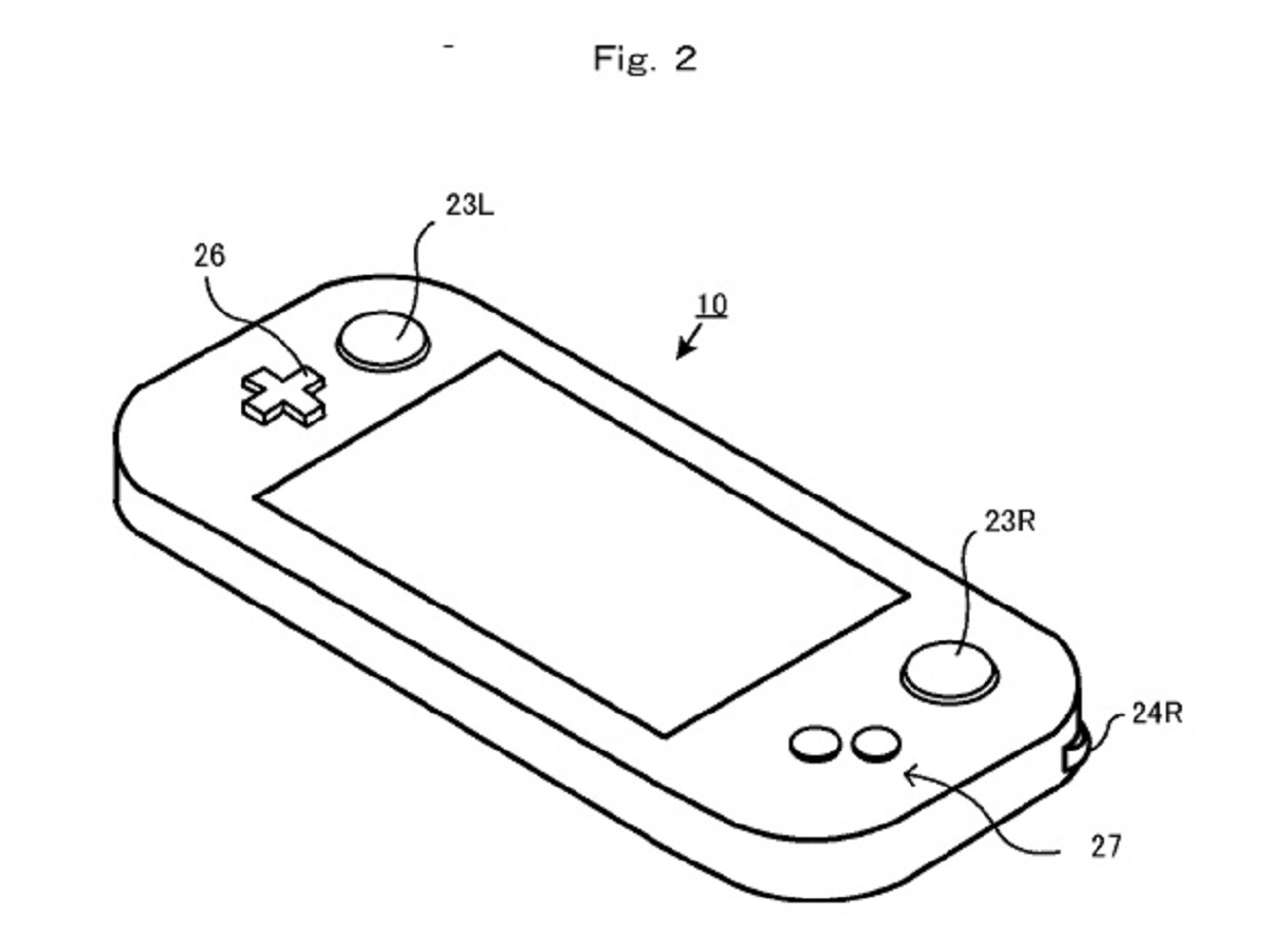 Nintendo Nx Rotating Shoulder Buttons Patent Diagram