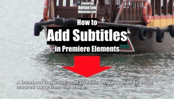 Adobe premiere elements tips tricks and more videolane add subtitle in premiere elements ccuart Image collections