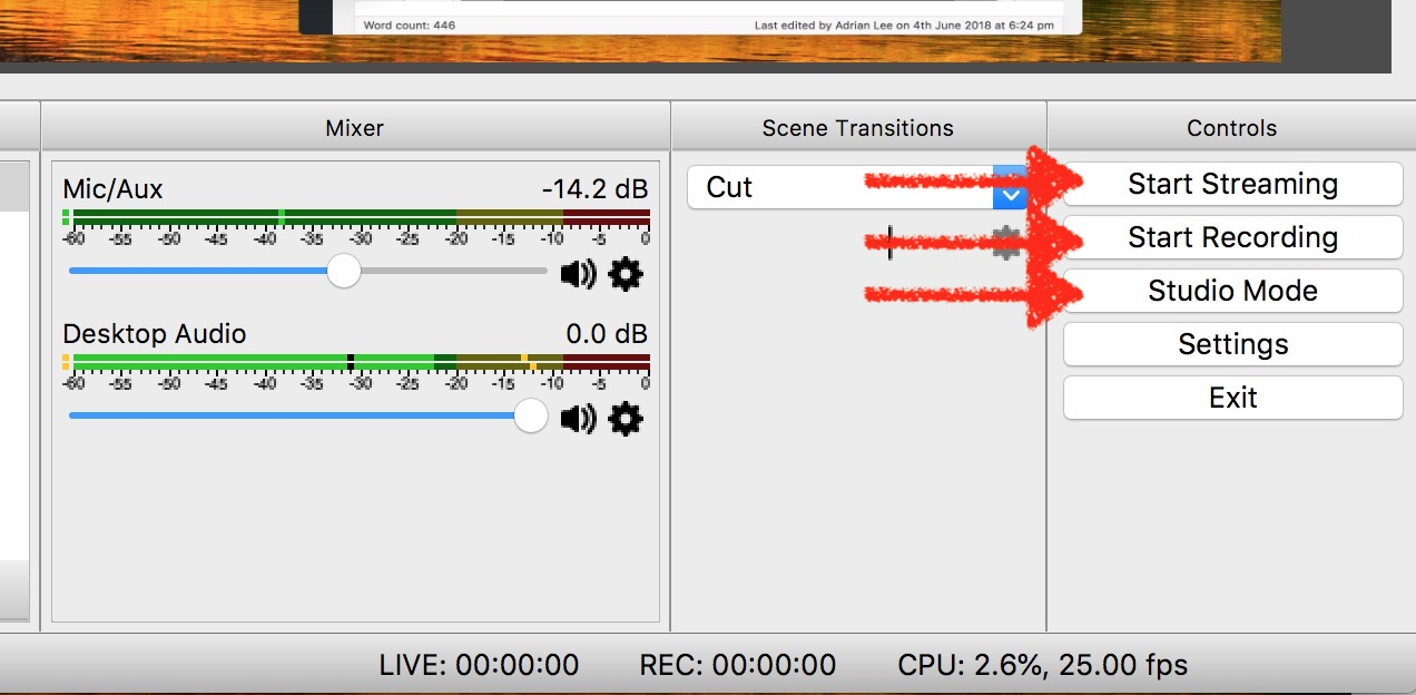 streaming and recording controls obs mac 2018 videolane com