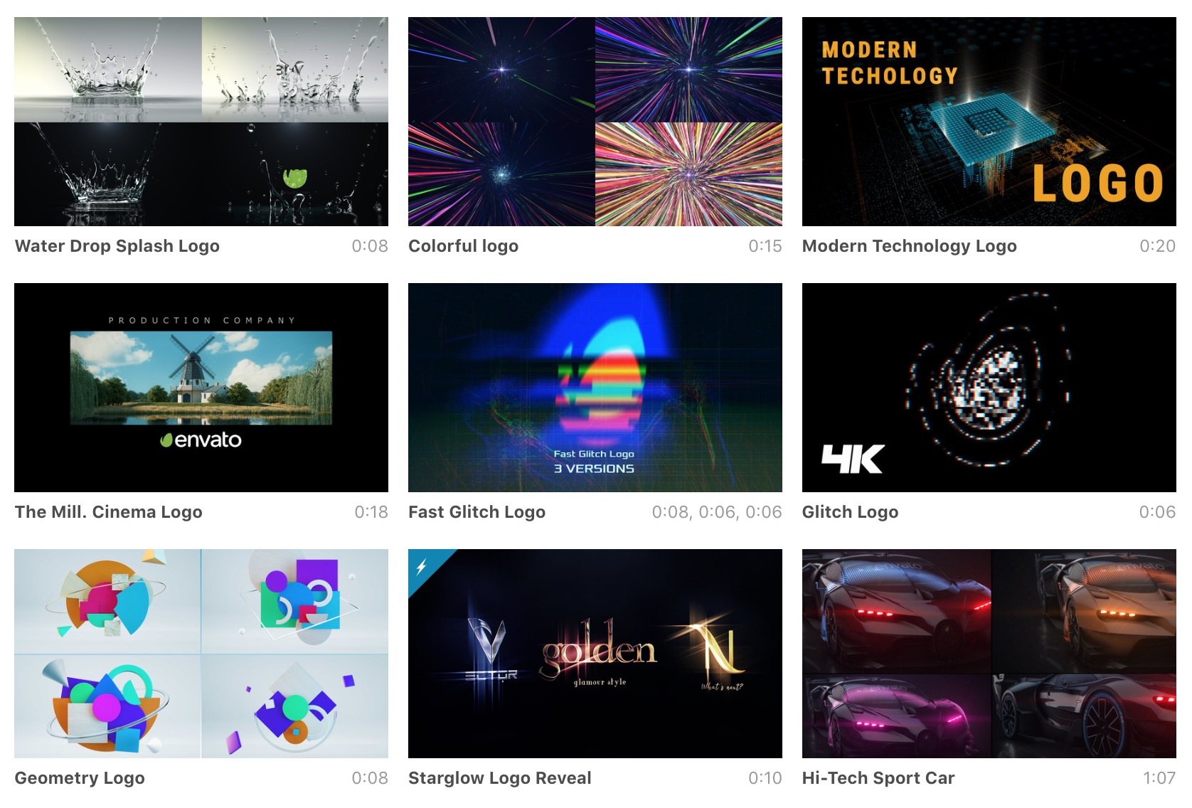 Videohive After Effects Intro Templates - VIDEOLANE ▶︎▶︎