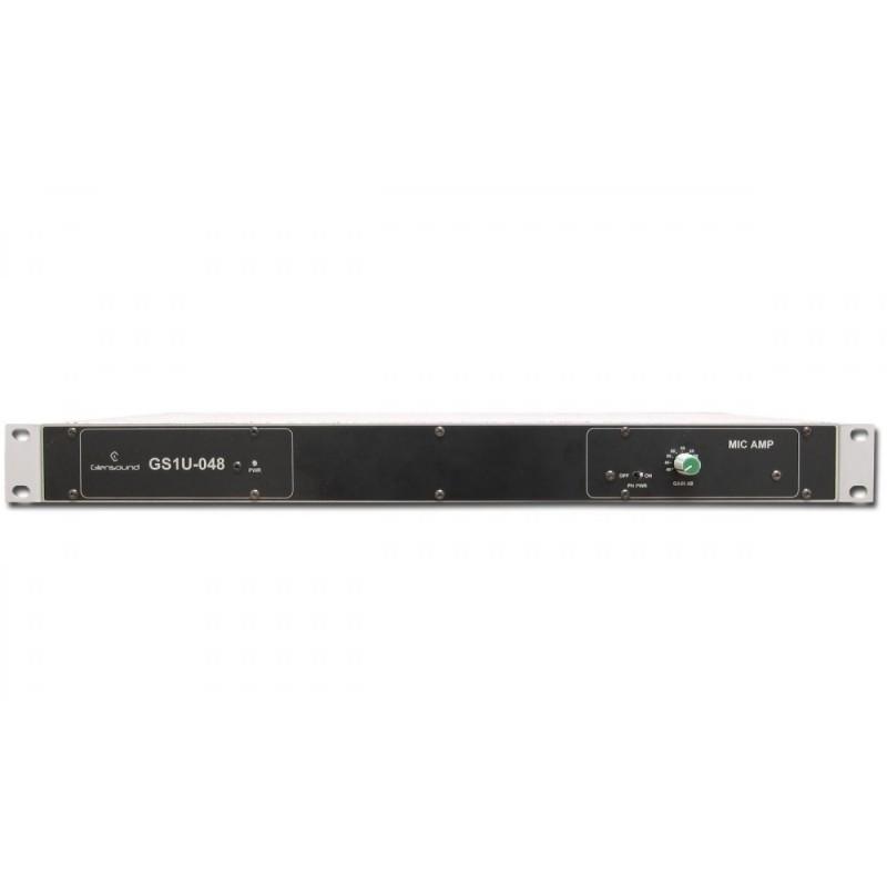 glensound gs 1u048 single channel rack mount mic amp