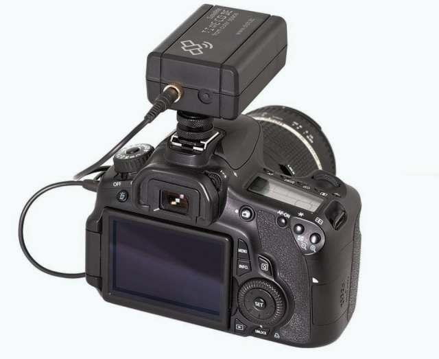 The Basic Dish mounted on a DSLR Camera