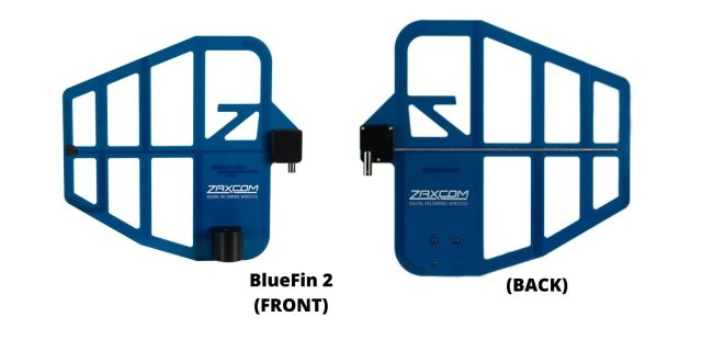 Front and Back Design of the Zaxcom BlueFin 2 Antenna
