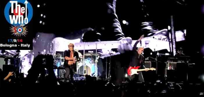 the who in concert last night a bologna