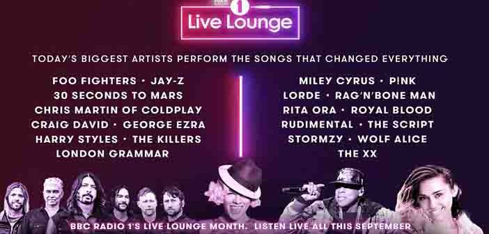 BBC Radio One presents line-up for 'Live Lounge Month'