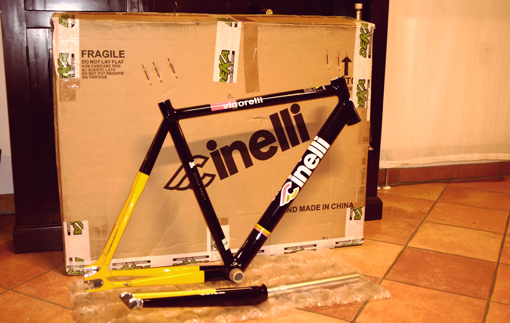 Videonauts Cinelli Vigorelli in tha house Rahmen