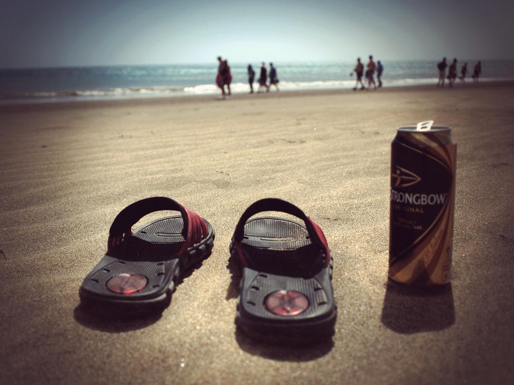 Videonauts Gran Canaria Strand & Strongbow Cider mit Latschen