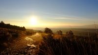 Videonauts Camino Jakobsweg vor dem Sonnenaufgang los