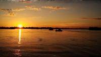 Videonauts backpacking Laos 4000 Islands sunset