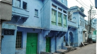 Videonauts backpacking Indien Rajasthan Bundi blue houses