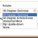 set Rotate options