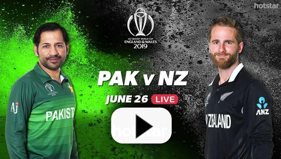 Pak vs NZ Live World Cup Online Streaming