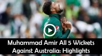 Amir 5 wickets Australia WorldCup Hightlights