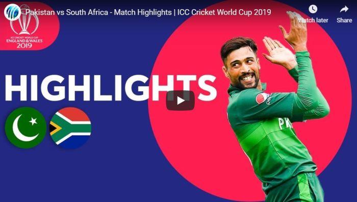 Pakistan vs South Africa Highlights
