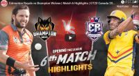 GT20 6th match highlights