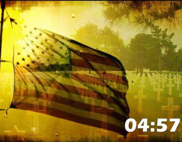 Flag Tears And Cemetery Countdown
