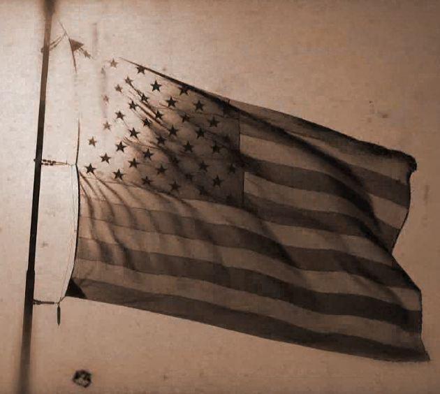 American Flag Old 8mm Film HD