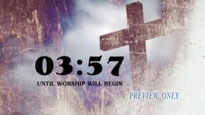 Grunge Cross 5 Minutes Countdown