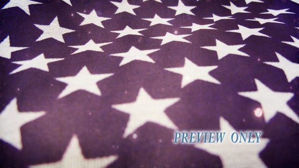 Grunge Waving Stars: Patriotic Motion