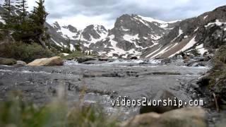Beautiful Mountain Worship Background