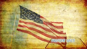 Flag And Bible: Grunge Motion