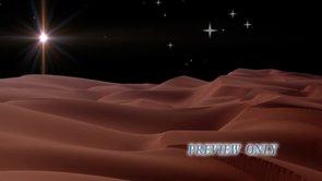 Bethlehem Star Over Sandy Desert