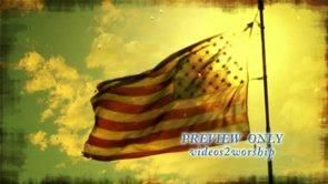 US Flag and Tears: Patriotic Motion