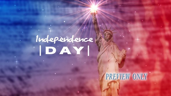 Independence Day Title Background