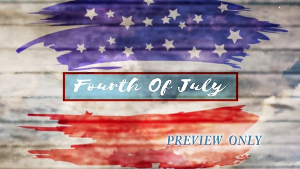 Fourth Of July Title Background