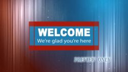 Welcome: Patriotic Colors Background