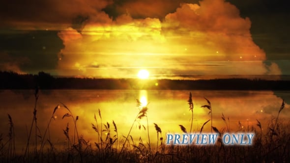 Golden Sunset: Nature Background