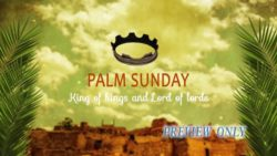 Palm Sunday Text Background