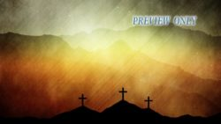Three Crosses Easter Background